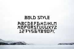 Asian font / japanese style / handmade font. Product Image 2