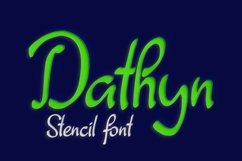 Dathyn Font Product Image 1