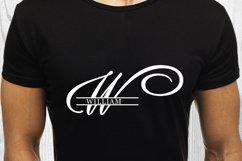 W Split monogram SVG Split letter svg Monogram font Product Image 4