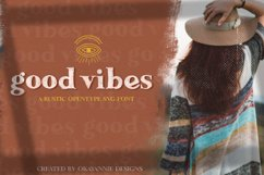 Updated!!! Good Vibes SVG Font & Graphics Product Image 1