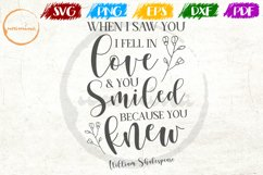 When I Saw You Love Couple Anniversary Quote Art Product Image 1