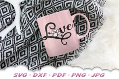 Love Paw Print SVG DXF Cut Files Product Image 5