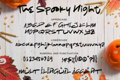 The Spooky Night - A Halloween Font Product Image 7