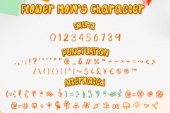 Flower Mom - girl kids font with flower doodle Product Image 2