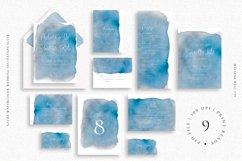 Azure Watercolor Wedding Invitation Suite Product Image 1