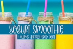 Web Font Yogurt Smoothie - A Quirky Handlettered Font Product Image 1