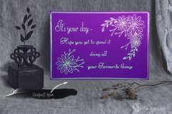 Floral Scribble Frames - Single line Designs  Foil Quill Product Image 6