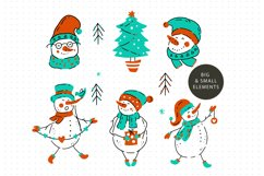 Snowman Christmas Graphic Pack. Product Image 5