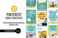 Traffic Generating Video Animated Pinterest Pin Pack | Canva Product Image 1