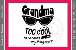Mother's Day SVG, Grandma Too Cool To Be Called Anything Else Product Image 2