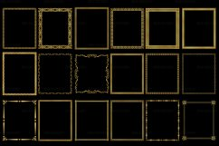 Gold Decorative Frames Clipart - Set of 20 Product Image 2