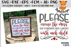 Funny Home Decor Excuse The Mess Kids SVG Product Image 1