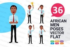 African men Character people Cartoon vector collection flat Product Image 1