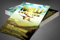 New Creation Church Flyer Template Product Image 3