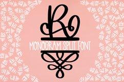 Monogram Split Letters With Flourish Font Product Image 3