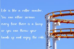 Roller Coaster A Handwritten Font Product Image 4
