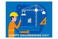 Flat design of Engineers day celebration Product Image 1