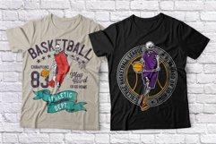 Basketball skeleton 10 t-shirts set Product Image 5