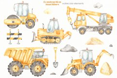 Construction machines watercolor Product Image 5