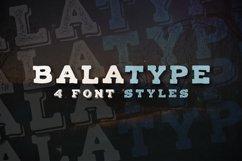 Balatype - 4 Hand Drawn Fonts Product Image 1