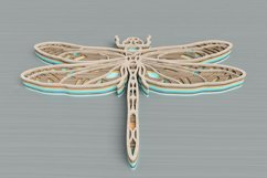 Insect laser cut file - Dragonfly Mandala Product Image 3