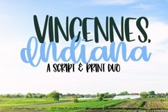 Web Font Vincennes Indiana - A Script & Print Duo Product Image 1