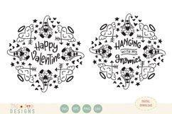 Valentine gnome mandala, bundle, SVG Product Image 1