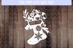 Bundle Of 9 Christmas Papercut Templates, Holiday SVG, PDF Product Image 4