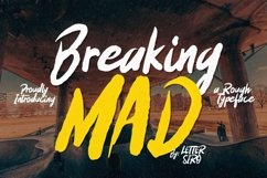 Breaking Mad Font Product Image 1