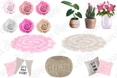 STAY HOME CLIPART - Fashion Girl Planner Graphics Product Image 6