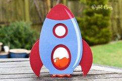 Rocket egg holder design, Easter SVG / DXF / EPS files Product Image 4