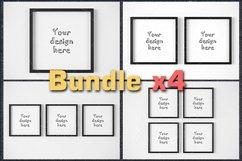 BUNDLEx4 square black frame mockup Product Image 1