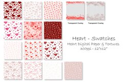 Heart Digital Paper & Backgrounds - Valentine's Day Hearts Product Image 2