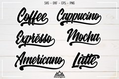 Coffee Lettering Packs Svg Design Product Image 1