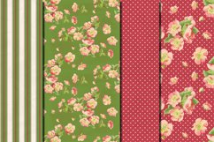 Shabby chic pink roses seamless patterns Product Image 5