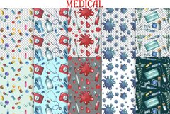 Watercolor Medical Clipart Product Image 4