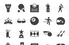 150 Fitness & Sports Glyph Icons Product Image 3
