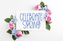 Web Font Meadow Flowers - A Quirky Hand-Lettered Font Product Image 2
