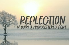 Web Font Reflection - A Quirky Handlettered Font Product Image 1