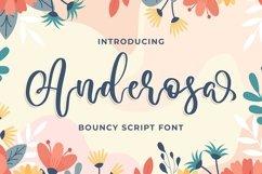 Anderosa - a Bouncy Script Font Product Image 1