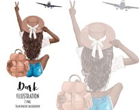 Fashion Travel Girl Clipart - Cute Backpack Illustration Product Image 5