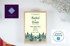 Watercolor Wooded Forest Wedding Invitation Product Image 7
