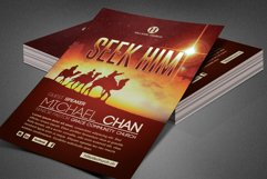 Seek Him Church Flyer Template Product Image 2