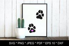 Dog paw SVG. Paw print SVG. Paw print love Product Image 5