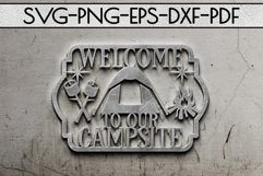 Camping Sign Papercut Templates Bundle, Adventure SVG, DXF Product Image 6