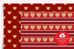 Valentines Day Digital Paper, Hearts Digital Paper Product Image 3