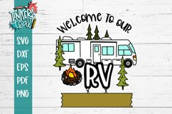 Custom Welcome To Our Campsite SVG Product Image 2