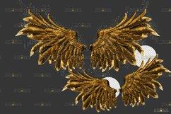 Golden Angel Wing overlay & Photoshop overlay Product Image 5