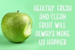 Green Apple | Food and Drink Font Product Image 4
