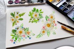 Daisies Bouquet Watercolor Clipart  Product Image 4